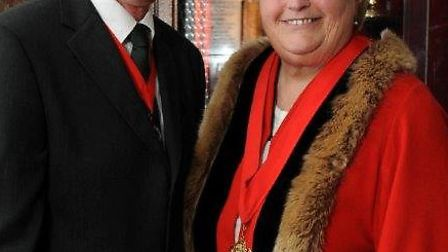 Barnstaple mayor elect Valerie Elkins, pictured with husband Roy. Picture by Tom Teegan.