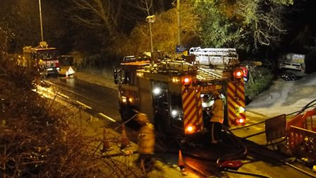 Fire crews were expected to remain on scene at Hele for some time this evening (Wednesday).