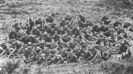 A picture of some of the Rorke's Drift defenders taken in 1879.