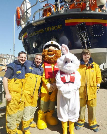 There was plenty going on at the Ilfracombe RNLI Easter Egg-vent fundraiser on Saturday. Picture: RN