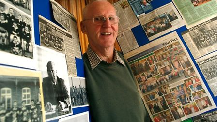 Gerald Thorne is pictured with some display material already sourced. Picture by Tony Freeman