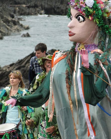 Scenes of merriment from Ilfracombe May Celebrations 2014.