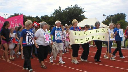 Fundraisers taking part in the 2013 Relay for Life in Braunton.