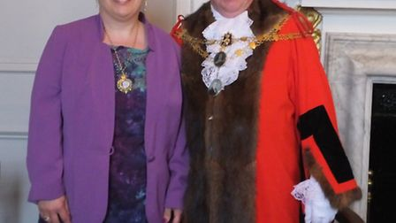 Mayor and Mayoress of South Molton Stephen and Christine Lock.
