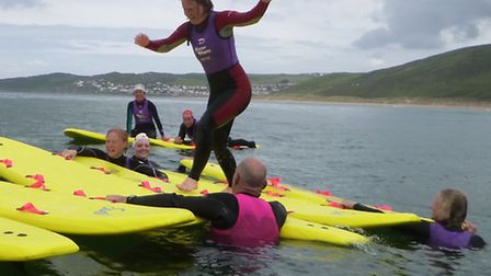 This year's 'women in waves' event at Putsborough Sands was a big success