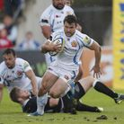 Exeter Chiefs' Dave Lewis in action. Pic: Exeter Rugby Club/Pinnacle Photo Agency