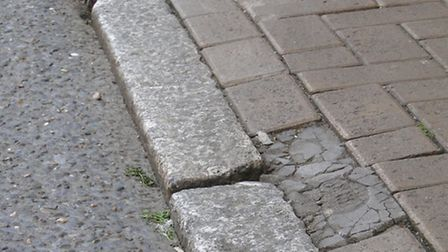 The pavement and road surface in Butcher's Row, Barnstaple