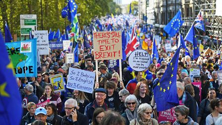 People fill central London in the People's Vote march. Picture: Victoria Jones/PA Wire/PA Images