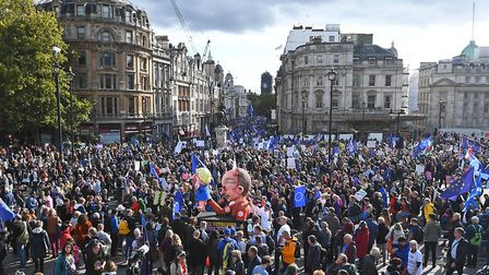 People take part in the Final Say march. Picture: Victoria Jones/PA Wire