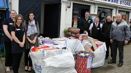 The food donated to Harbour Bideford.