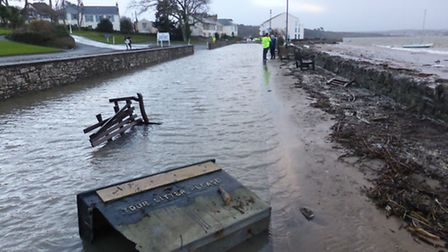 The flooding in Instow earlier this month.