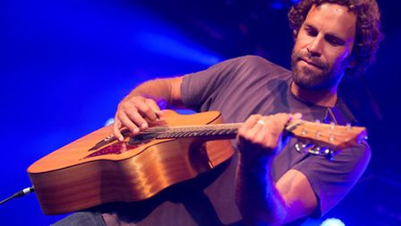 Jack Johnson playing at this year's Somersault Festival at Castle Hill Estate, Filleigh. Pic: Andy C