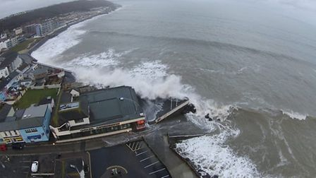 The high tide at Westward Ho! this morning. Picture: Ian Kevern