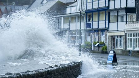 High tides in Lynmouth this morning. Picture: Guy Harrop