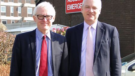 Care and Support Minister Norman Lamb and North Devon MP Nick Harvey are pictured outside North Devo