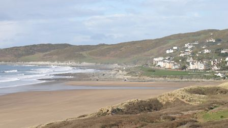 A suspected shell has been found in dunes near Woolacombe Beach