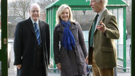 Liz Truss, Secretary of State for the Environment, Food and Rural Affairs and Peter Heaton-Jones, Co