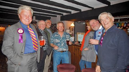 UKIP candidate Derek Sargent and customers at the bar. Picture: @TIDYEYEPR