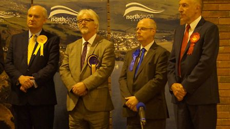 Scenes from North Devon General Election night