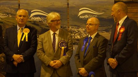 The North Devon declaration at the leisure centre in Barnstaple. Picture: Andy Keeble