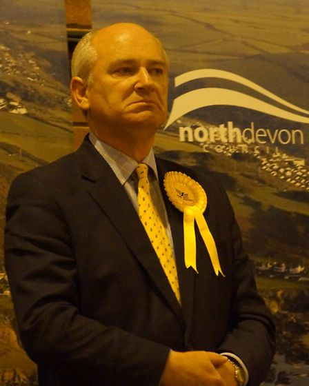 Outgoing MP Nick Harvey pictured as the declaration is read on Friday morning. Picture: Andy Keeble