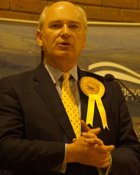 Nick Harvey speaking at last week's declaration in Barnstaple. Picture: Andy Keeble