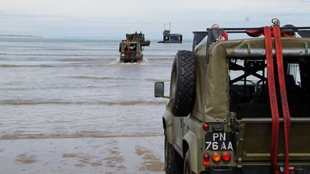 Film crews were in town as Royal Navy and Marine recruits trained on Instow beach