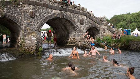 Dive in and cool off at Somersault Festival. Pic by Andy Casey