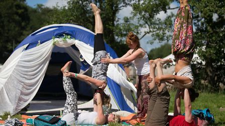 Hang around upside down Somersault Festival at Castle Hill, Filleigh. Pic by Andy Casey