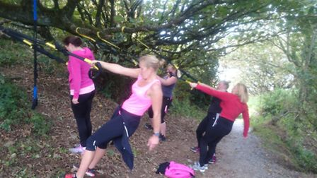 TRX suspension training on the Torrs in Ilfracombe: Picture: Sean Dullaghan