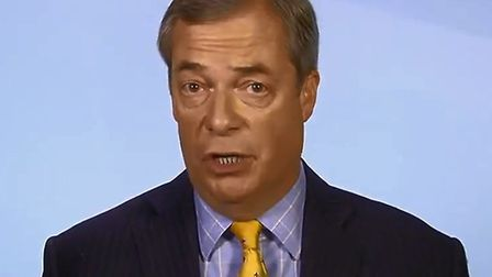 Nigel Farage speaking on Sophy Ridge on Sunday this morning. Picture: Sky