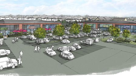 An artist's impression of how the food and retail area of Anchorwood Bank will look once completed