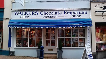 Walkers Chocolate Emporium in Ilfracombe High Street.