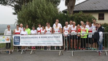 A large group from North Devon Road Runners took on the Bratton 7