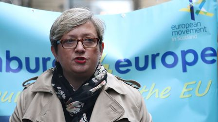 SNP MP Joanna Cherry outside the Court of Session in Edinburgh. Photograph: Andrew Milligan/PA Wire.