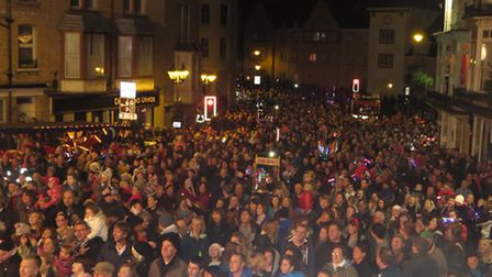 Crowds gather each year for Ilfracombe's Lighting of the Lights