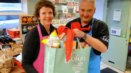 Sue and Anthony Johns are urging people to shop local this Christmas. Picture: Sarah Howells