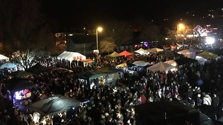Braunton's first-ever Christmas fair was a busy occasion. Picture: Callum Williams