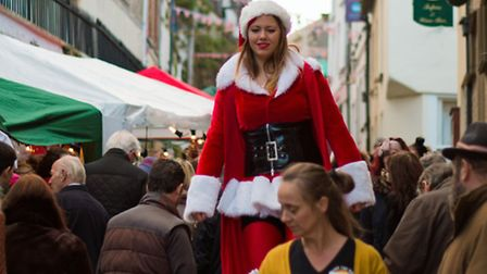 Fore Street Christmas market will be undercover this year. Picture: Sally Almond