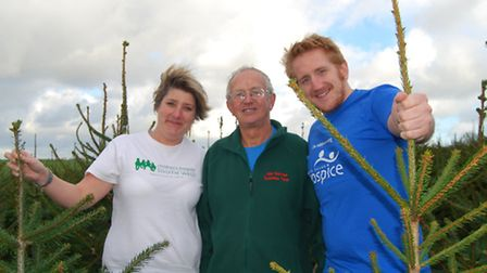 Emma Perry from Children's Hospice South West, John Cockram and Leo Cooper from North Devon Hospice.