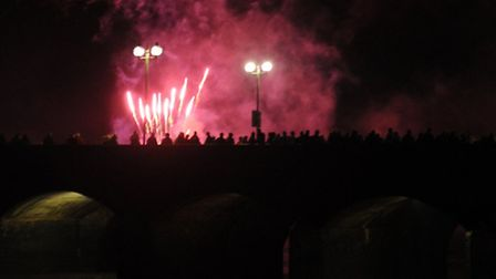 Barnstaple New Year's Eve celebrations. Picture by Barbara Fryer