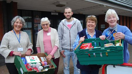 Volunteers at Barnstaple foodbank kick off this year's appeal. Picture: Elliot Anderton