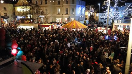 Crowds will gather for the Bideford light switch on this Sunday