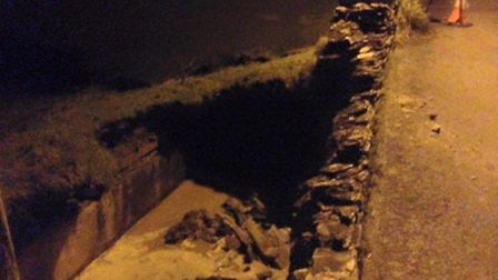 The sink hole spotted at Chappel Hill, Mortehoe. Picture: Dominic Boon