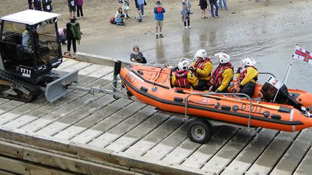 Ilfracombe inshore lifeboat was launched on New Year's Day