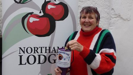 Northam Lodge publicity assistant Annabel Cope with one of the swear jars