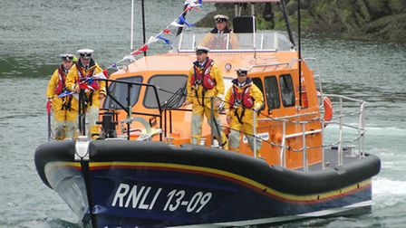 The new Ilfracombe Shannon lifeboat