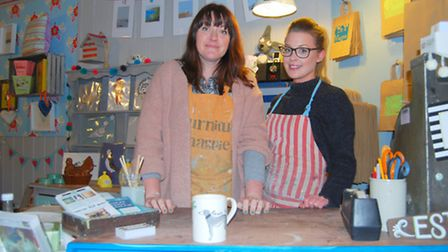 Furniture Magpie owner Sam Baines with Abi Leworthy