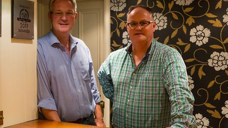 Huw Rees and Sam Prosser at The Old Rectory Hotel. Picture: Matt Fryer Photography