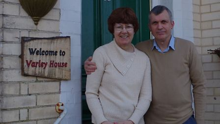 Helen and Rod Chatfield at Varley House in Ilfracombe